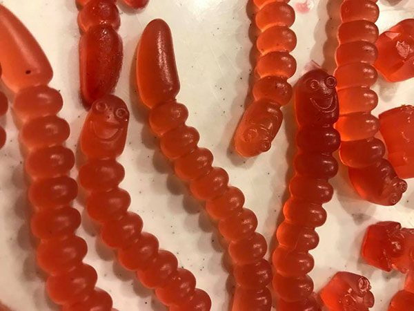 Keto Raspberry Lemonade Gummy Worms