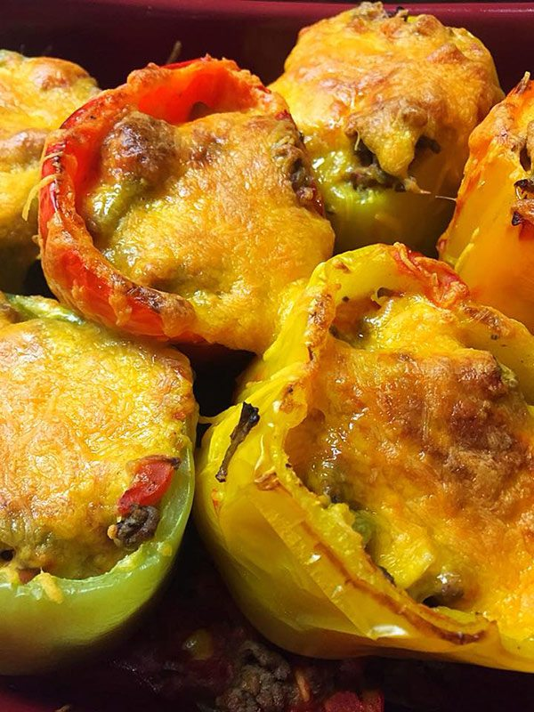 Keto Lasagna Stuffed Peppers
