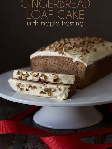 Low Carb Gingerbread Loaf Cake with Maple Frosting