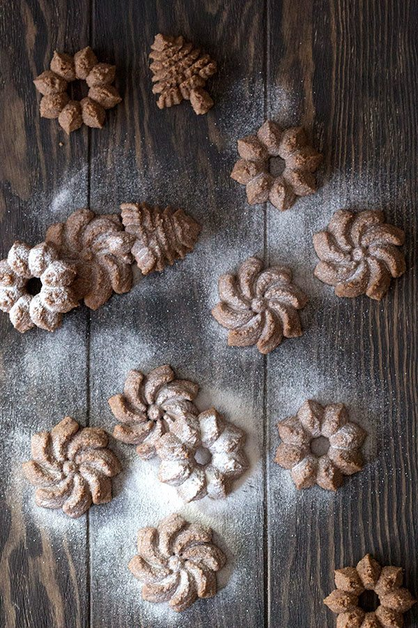 Easy healthy holiday cookies, these gingerbread spritz are perfect for gift-giving