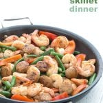 Easy Keto Shrimp and Sausage Skillet Dinner