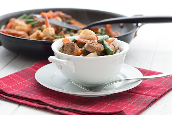 Easy Shrimp & Sausage Skillet Meal