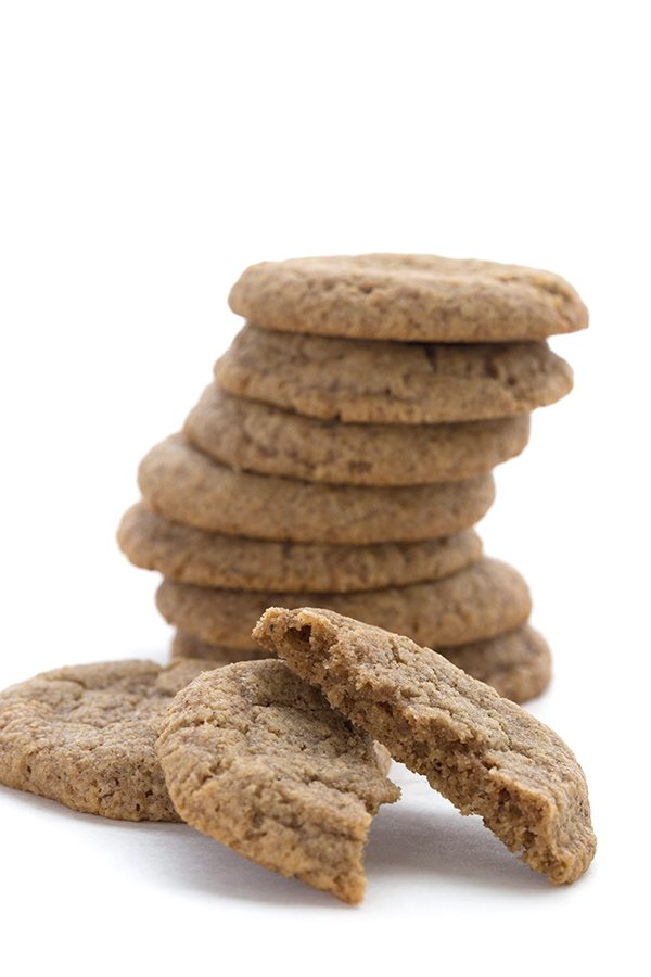 Low Carb Chewy Ginger Cookies - you won't believe the amazing texture!