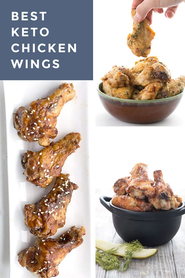 Collage of keto chicken wing recipes