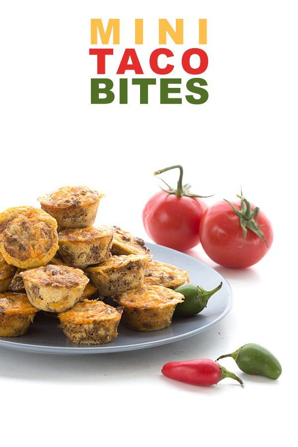 Keto Taco Bites - mini taco egg muffins