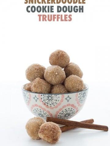 Keto Snickerdoodle Cookie Dough Bites