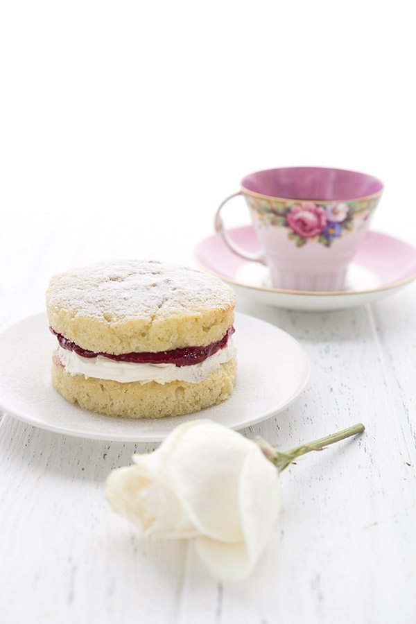 You will love this sweet little keto cake for two! Classic Victoria Sponge Cake