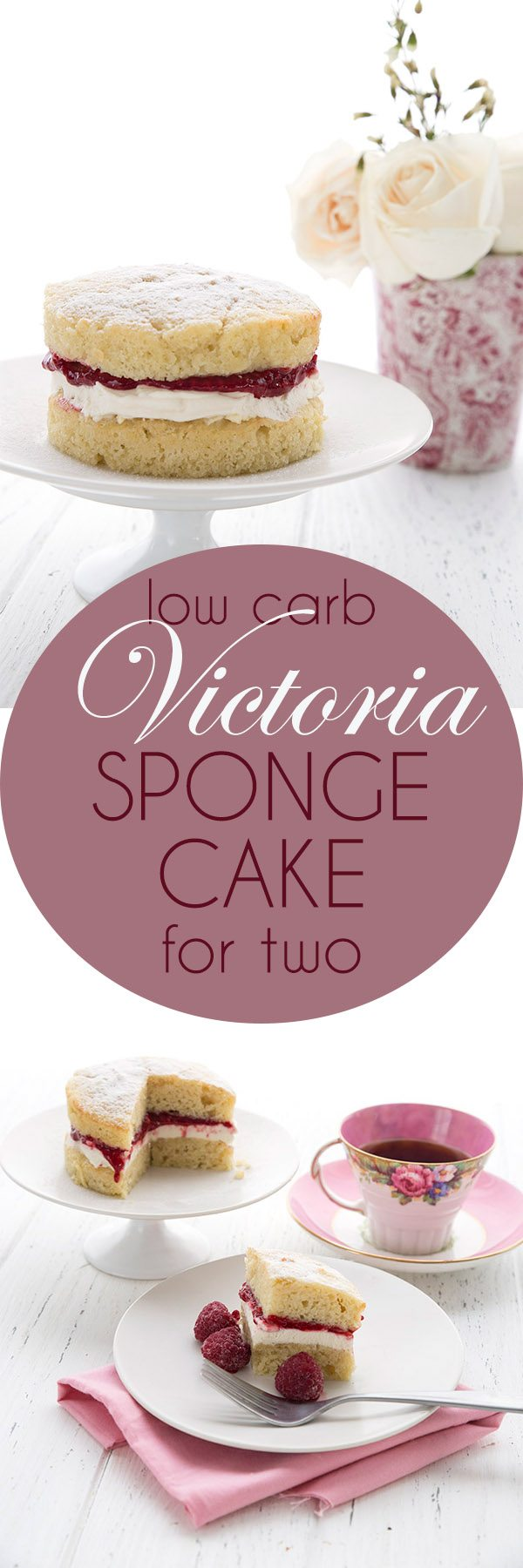 This delicious Keto Victoria Sponge Cake makes a perfect healthy Valentine's Day dessert