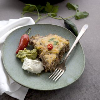 Cheddar Jalapeno Skillet Meatloaf Recipe - low carb and grain-free.