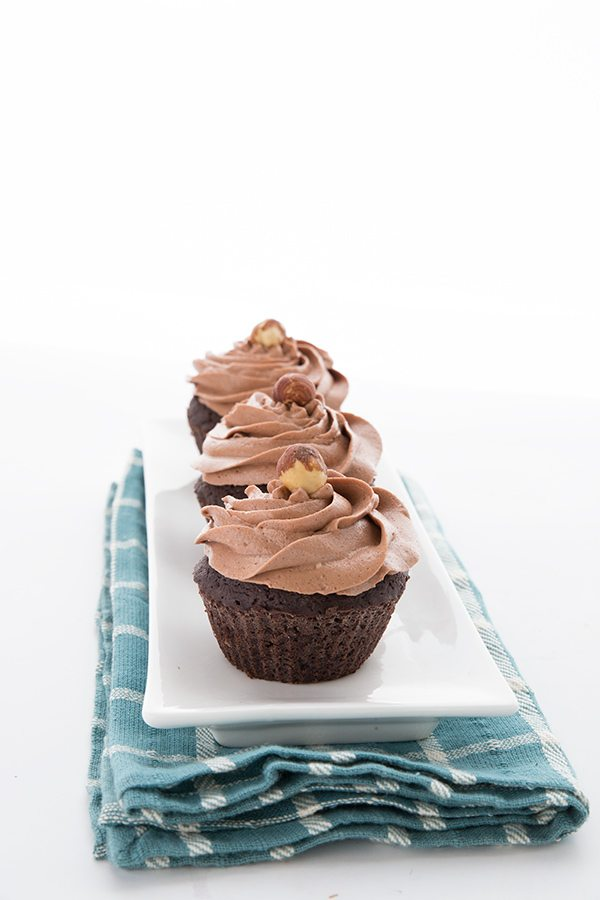 Keto Chocolate Cupcakes with Sugar-Free Nutella Frosting