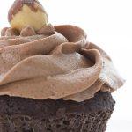 Keto Chocolate Hazelnut Frosting up close