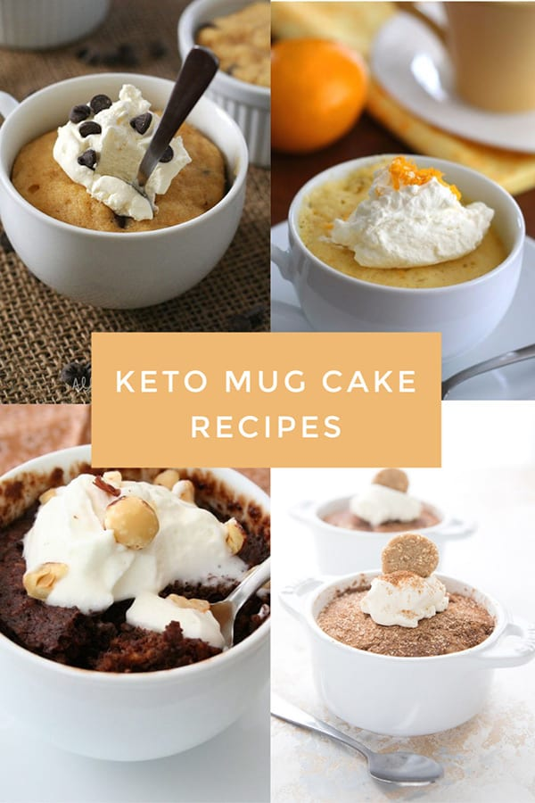 Titled collage of keto mug cake recipes
