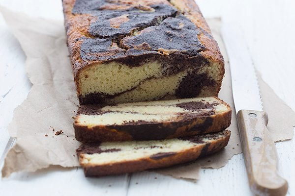 Easy keto marble loaf cake recipe