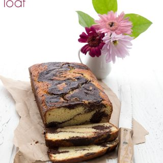 Sour Cream Marble Loaf Cake – Low Carb