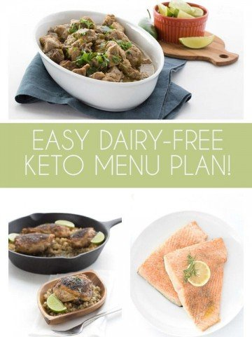 Easy Dairy-Free Keto Meal Plan