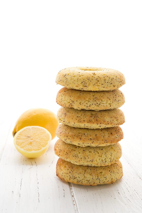 Low Carb Dairy-Free Lemon Poppyseed Donuts made with ghee