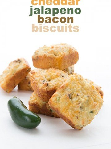 Keto Cheddar Jalapeno Bacon Biscuits