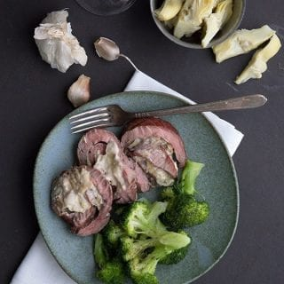 Artichoke Stuffed Flank Steak