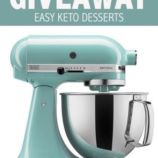 Keto Desserts Cookbook and A Big Keto Baking Giveaway!