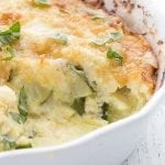 Close up of zucchini casserole recipe