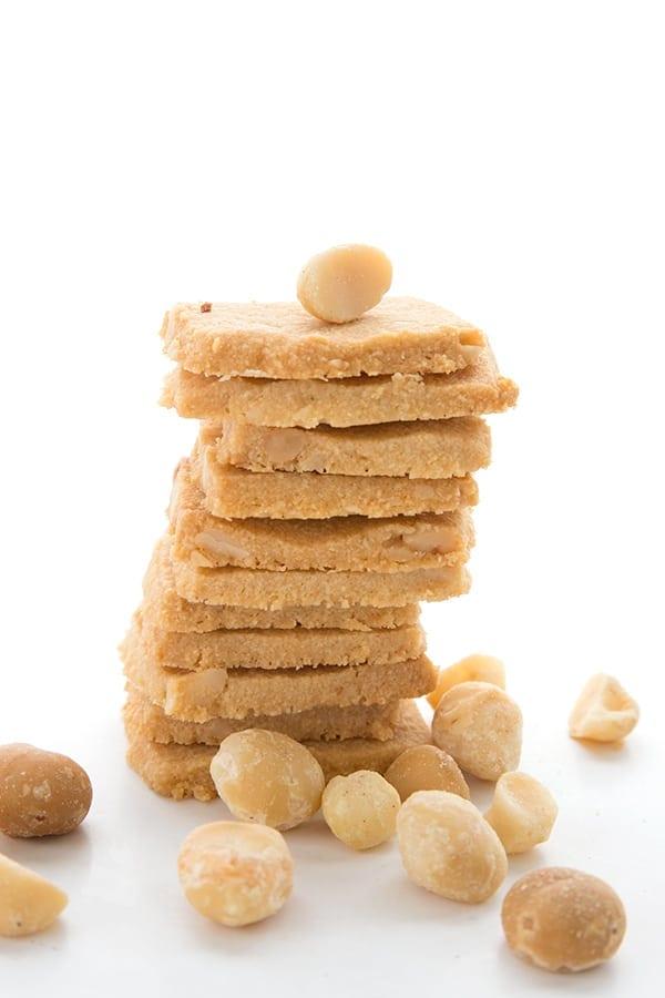 Keto Macadamia Shortbread Cookies