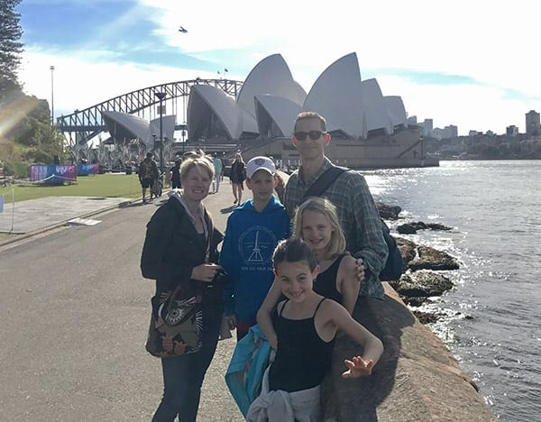 Family Photo in Sydney Harbour
