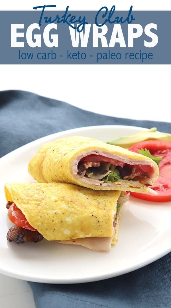 Skip the bread and use an egg wrap for your favorite sandwiches! A delicious keto breakfast or lunch. #ketorecipes #grainfree #eggrecipes #clubsandwich #easyketo #ketodiet #lowcarbdiet #lowcarbrecipes