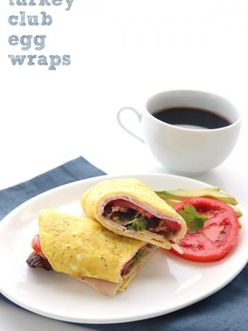 Easy Turkey Club Egg Wraps recipe
