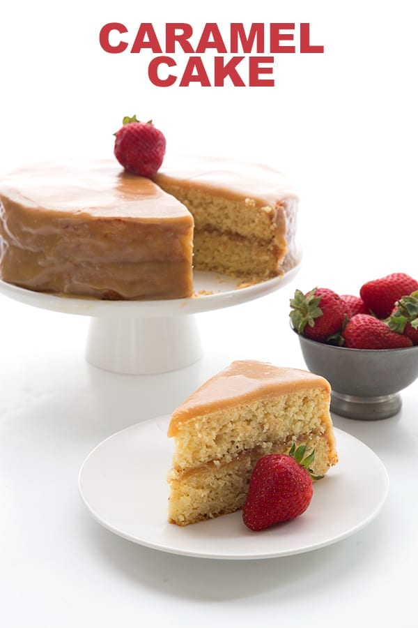Surprising Keto Caramel Cake Recipe All Day I Dream About Food Personalised Birthday Cards Veneteletsinfo