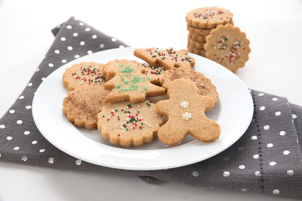 Keto Holiday Cookies with almond flour