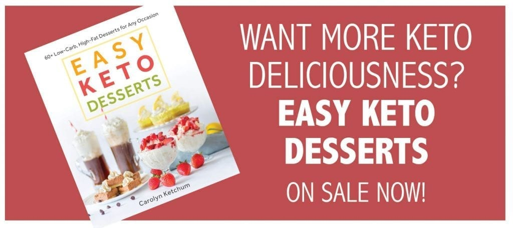 Easy Keto Desserts Cookbook Banner