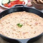 Easy cheesy Sausage dip, perfect for Game Day parties.