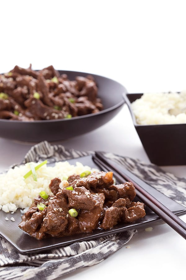 Keto Mongolian Beef with Cauliflower Rice