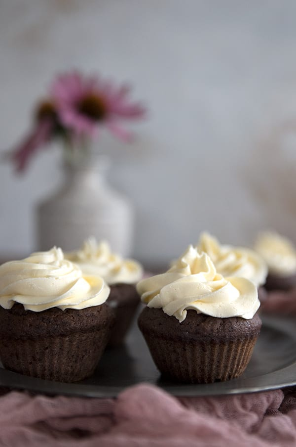 The best sugar free frosting on low carb chocolate cupcakes