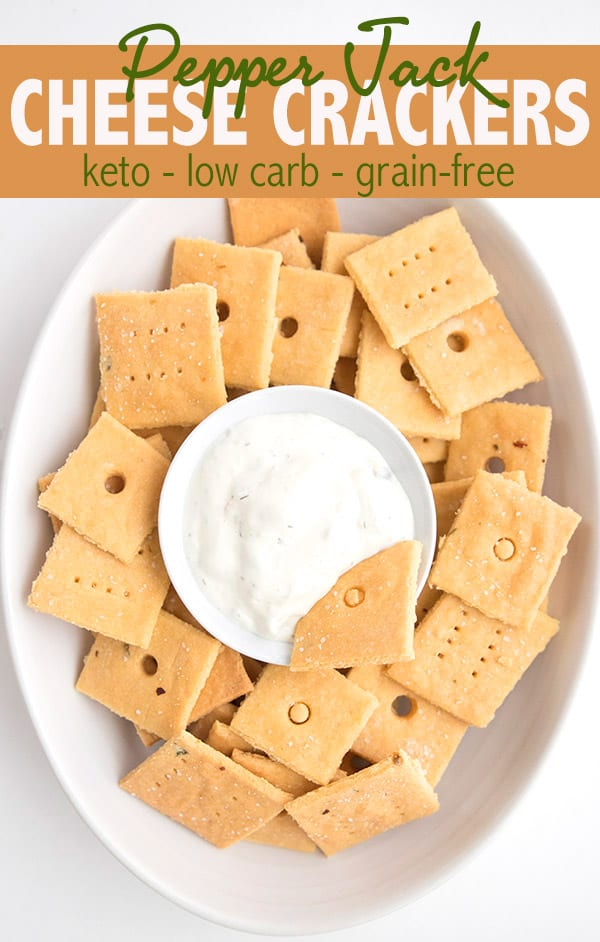 Keto Cheese Crackers in a bowl