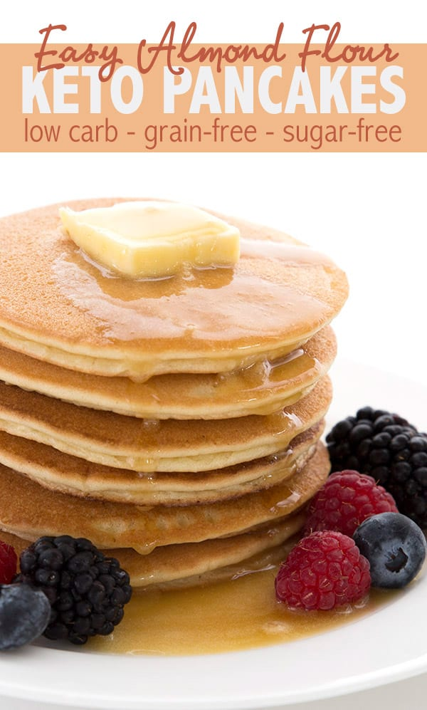 Best keto pancakes recipe. Made with almond flour, they are grain free and dairy free.