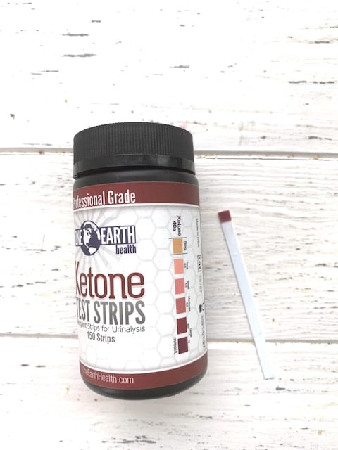 Using ketone urine strips