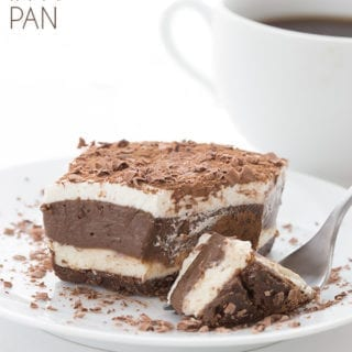Sugar free Sex In A Pan dessert with a fork full taken out of it.