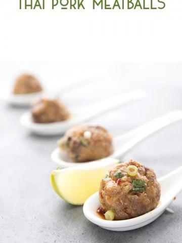 Keto Pork Meatballs with Thai Dipping Sauce