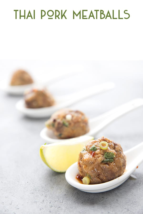 Keto Pork Meatballs with Thai Dipping Sauce