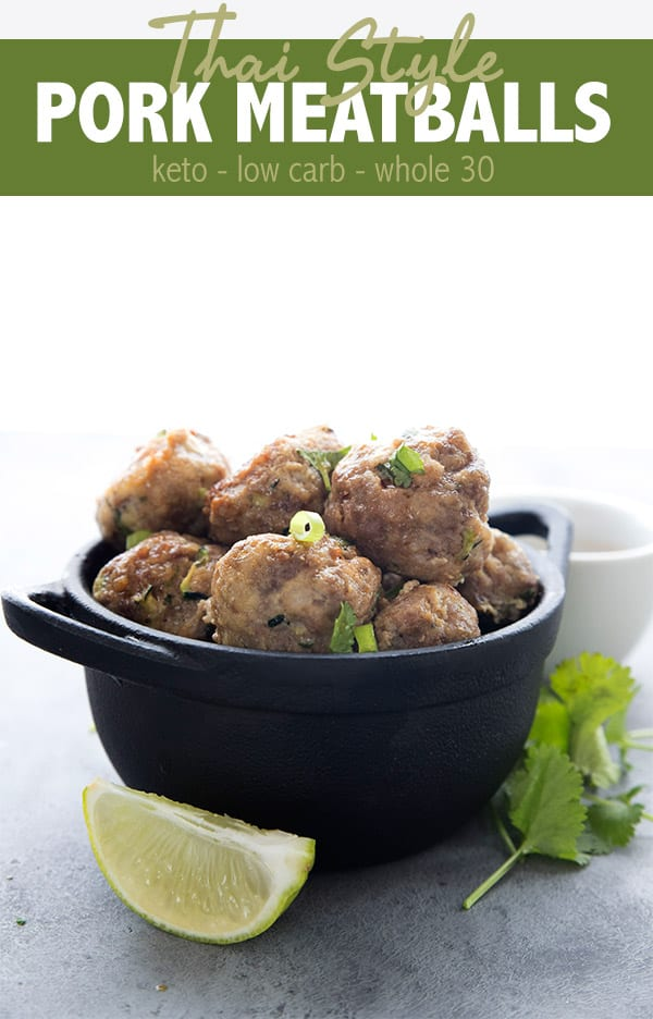 Keto Thai Meatballs Recipe