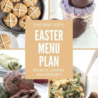 Titled collage for Keto Easter Menu Plan