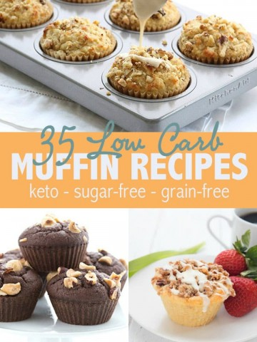 Collage of low carb muffin recipes
