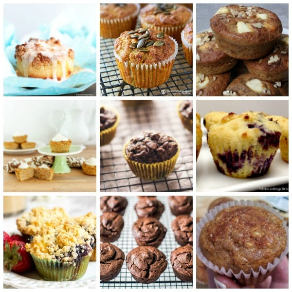 Low Carb Muffins! A collage of wonderful keto muffin recipes