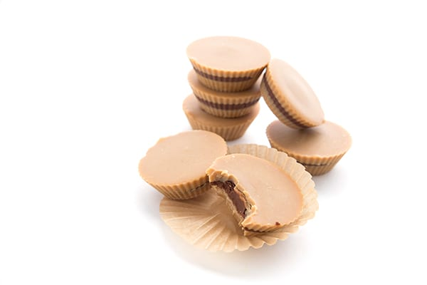 Fun little inside out peanut butter cups