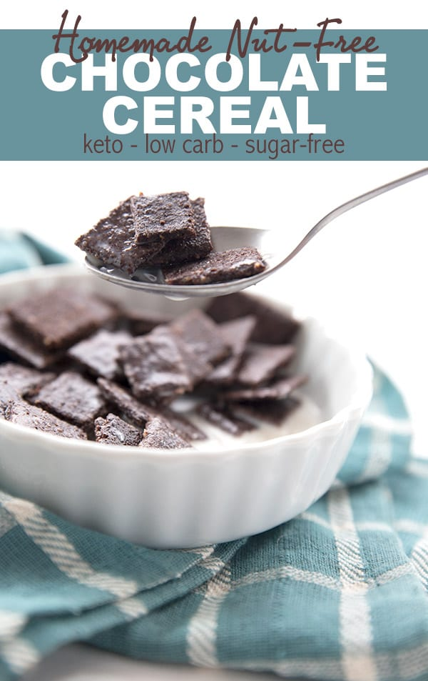The best keto cereal recipe! Crisp chocolate flakes that hold up to the milk or cream. My kids LOVED this!