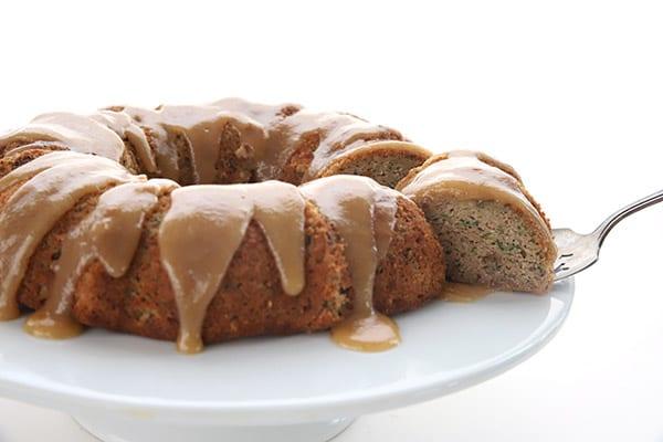 Low Carb Zucchini Caramel Cake