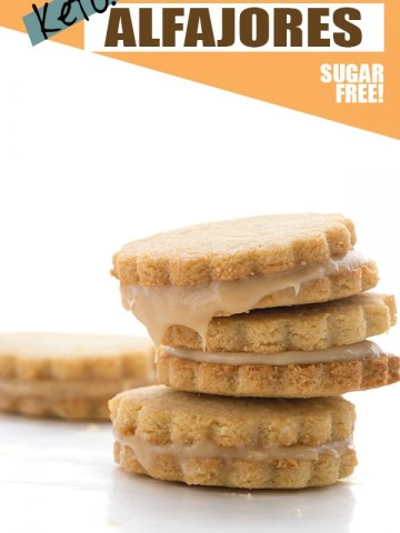 A stack of alfajores, a South American caramel sandwich cookie