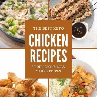 Collage of keto chicken recipes