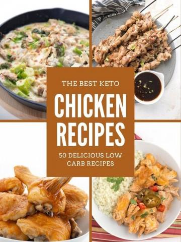 Collage of keto chicken recipes